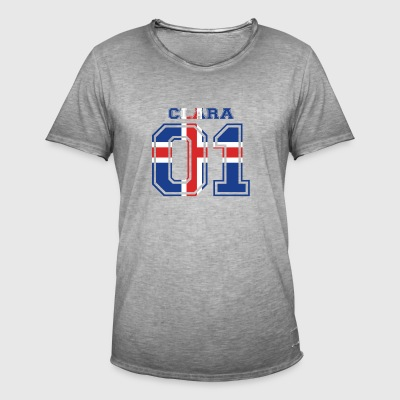 home roots name iceland island CLARA - Men's Vintage T-Shirt