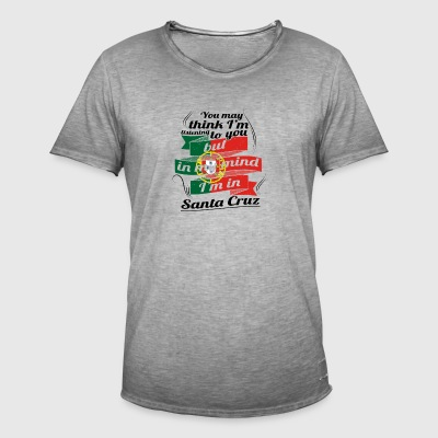 URLAUB HOME ROOTS TRAVEL I M IN Portugal Santa Cru - Männer Vintage T-Shirt