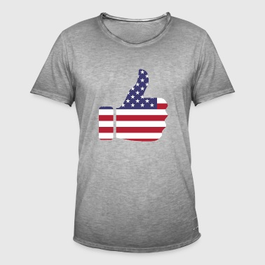 Thumbs up - USA - Men's Vintage T-Shirt