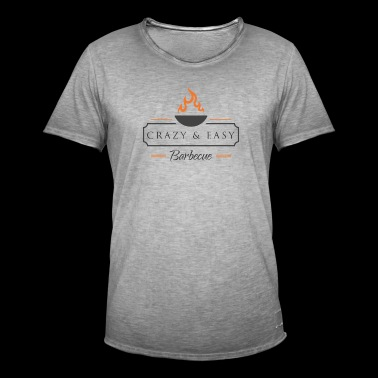 Crazy and Easy Barbecue Gift Idea Grilling - Men's Vintage T-Shirt