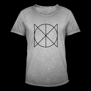 Geometric Circle Triangle - Men's Vintage T-Shirt
