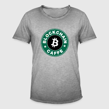BlockChain Cafe Logo - Men's Vintage T-Shirt