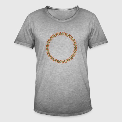 Wreath14 - Mannen Vintage T-shirt