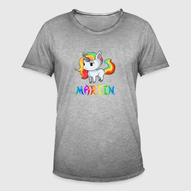 Unicorn Martin - Vintage-T-skjorte for menn