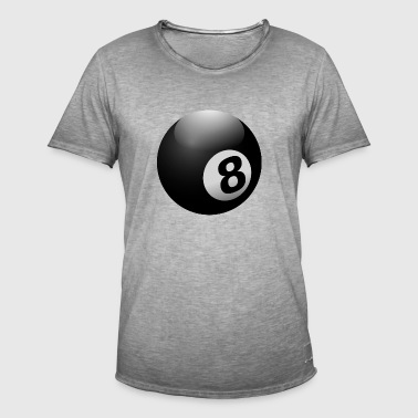 Biljartbal 8 Ball Black - Mannen Vintage T-shirt