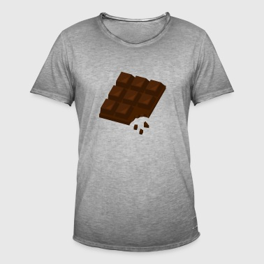 Chocolate Chocolade Chocolate Sweet Brown Gift - Men's Vintage T-Shirt