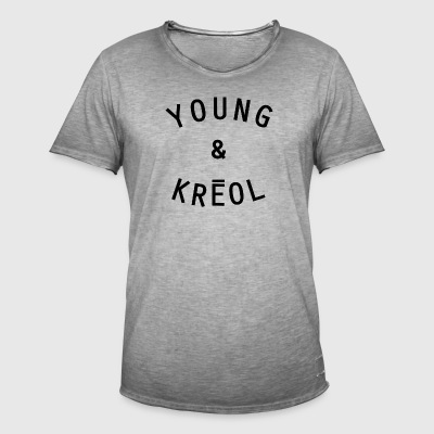 YOUNG & Kreol - Männer Vintage T-Shirt