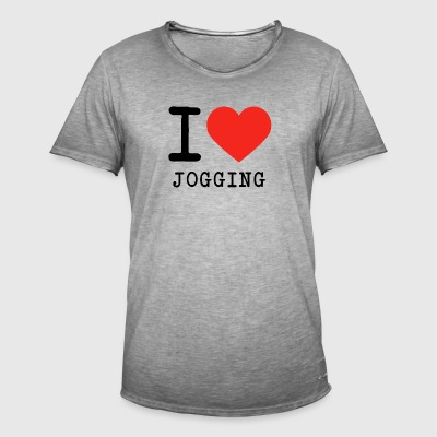 I love jogging - Men's Vintage T-Shirt