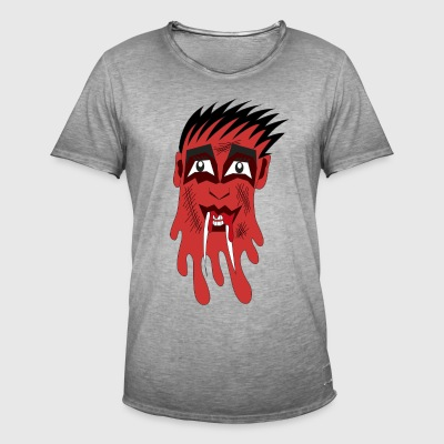 rode monster - Mannen Vintage T-shirt
