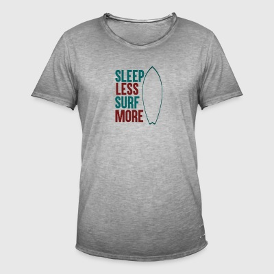 Sleep Less - Surf Meer - Mannen Vintage T-shirt
