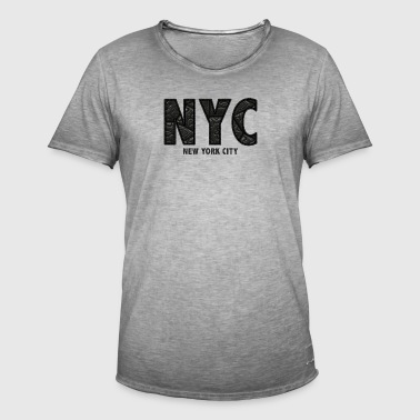 NYC - Vintage-T-skjorte for menn