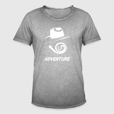 adventure wite - T-shirt vintage Homme