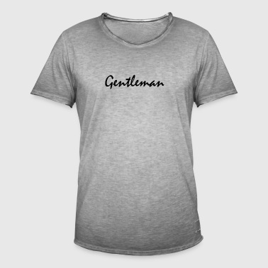 gentleman - Vintage-T-skjorte for menn