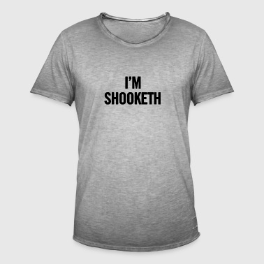 Ik ben Shooketh Black - Mannen Vintage T-shirt