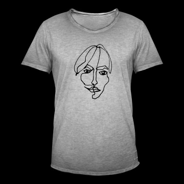 Graphic woman portrait - Men's Vintage T-Shirt