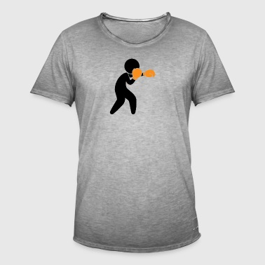 A Boxer Exercising In The Ring - Men's Vintage T-Shirt