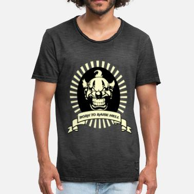 Born To Tattoo Born To Raise Hell - Männer Vintage T-Shirt