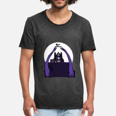 North Yorkshire Whitby Abbey & Whalebones - Vintage T-shirt mænd