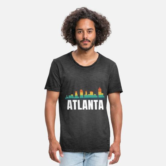 Gift Idea T-Shirts - Atlanta skyline - Men's Vintage T-Shirt washed black