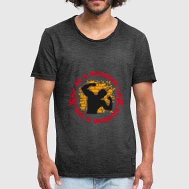 Be a Warrior Not a Worrier - Men's Vintage T-Shirt