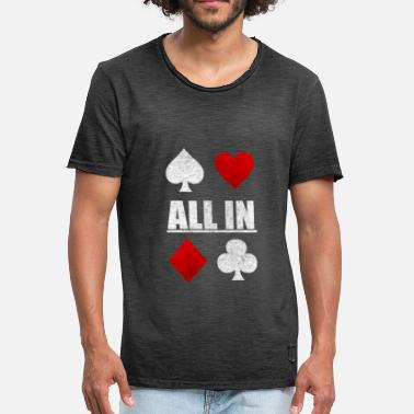 Poker Game Todo en Poker Poker Card Game Casino Regalo - Camiseta vintage hombre
