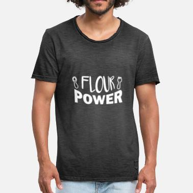 Flour Flour Power - Men's Vintage T-Shirt