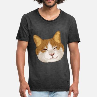 Souriant Chat souriant / chat souriant - T-shirt vintage Homme
