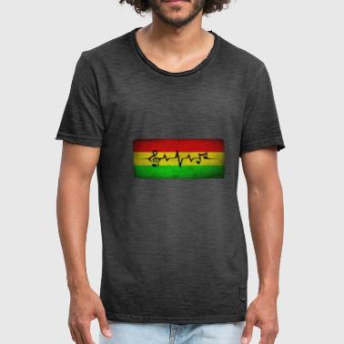 Rasta Reggae note - Men's Vintage T-Shirt
