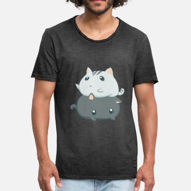 Gatos Kawaii Gatos Kawaii - Camiseta vintage hombre