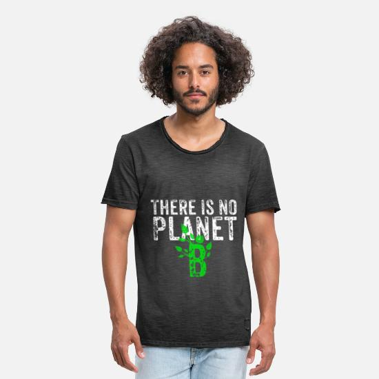 No T-Shirts - There Is No Planet B - Men's Vintage T-Shirt washed black