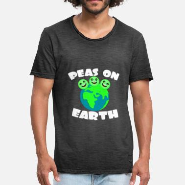 Pea Peas On Earth | Peas pun game earth gift - Men's Vintage T-Shirt