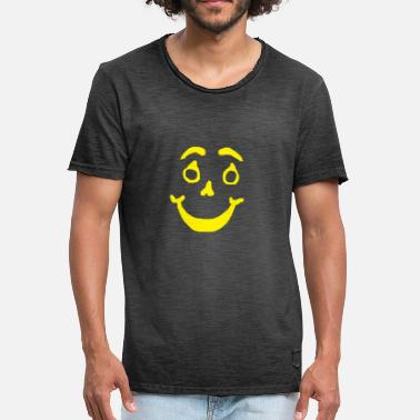 Face Smily smiling face, Grinse Gesicht ,humor - Männer Vintage T-Shirt