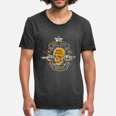 World Of Tanks Blitz - Crâne - T-shirt vintage Homme