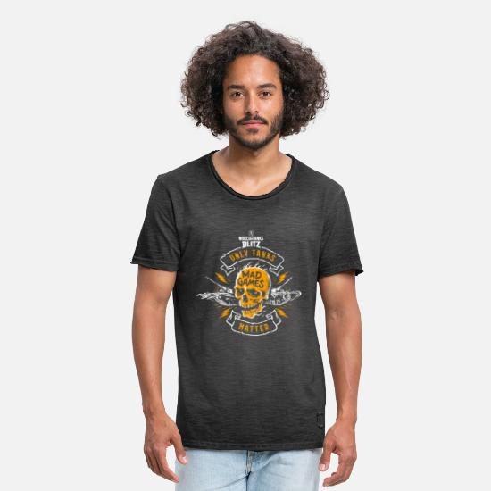 World Of Tanks T-Shirts - World of Tanks Blitz - Only Tanks Matter - Männer Vintage T-Shirt vintage Schwarz