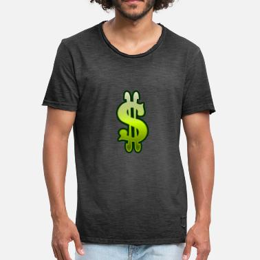 Money Dollar Sign Dollar sign dollar money - Men's Vintage T-Shirt