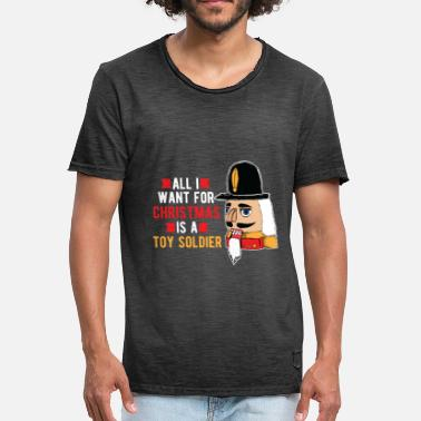 Soldier Christmas present - toy soldier - Men's Vintage T-Shirt