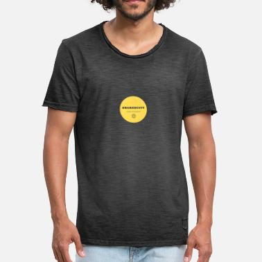 Ecofriendly Yellow Positive Shared World - Men's Vintage T-Shirt