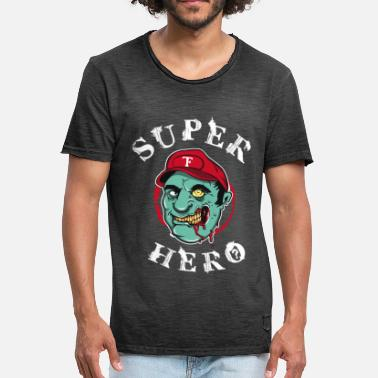 Gaming Collection Super-héros zombie - T-shirt vintage Homme