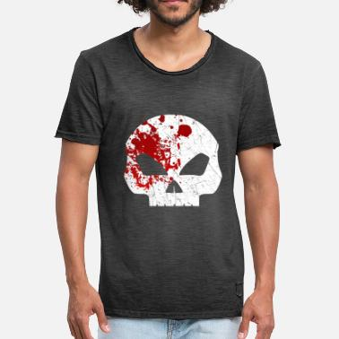 Halloween Bloody Bloody Skull - bloody skull head Halloween blood - Men's Vintage T-Shirt