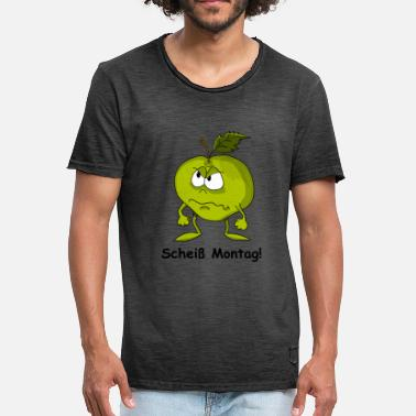 Shit Monday Angry Apple shit Monday! - Men's Vintage T-Shirt