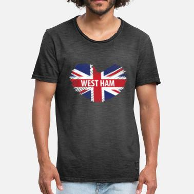 United West Ham Gift, West Ham London, West Ham British Flag - Men's Vintage T-Shirt