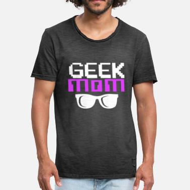 Geek Geek Mom, Women Computer Nerd, Computer Geek - Men's Vintage T-Shirt