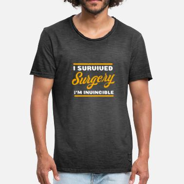 Survived Hernia Surgery I Survived I'm Invincible Gift - Men's Vintage T-Shirt