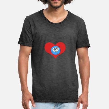 Love Birds BIRD LOVE BIRD LOVE HEART - Men's Vintage T-Shirt