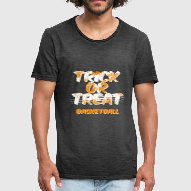 Basketball Halloween Costume Trick or Treat - Men's Vintage T-Shirt