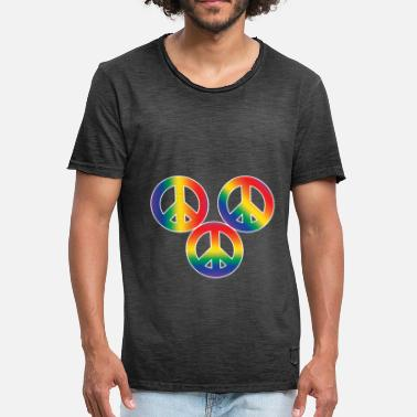 Christopher Street Day Christopher Street Day Peace and Tolerance - Men's Vintage T-Shirt