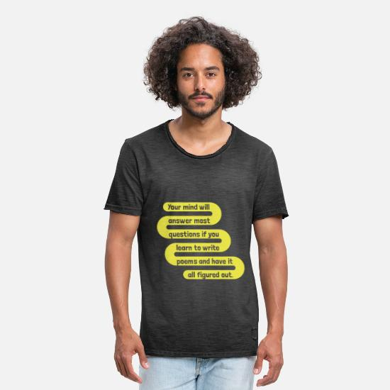 Thoughts T-Shirts - write poems - Men's Vintage T-Shirt washed black