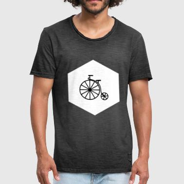 HIPSTER PENNY FARTHING (w) - Miesten vintage t-paita