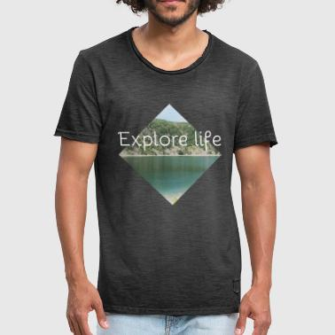 Eloquent Explore life - Men's Vintage T-Shirt