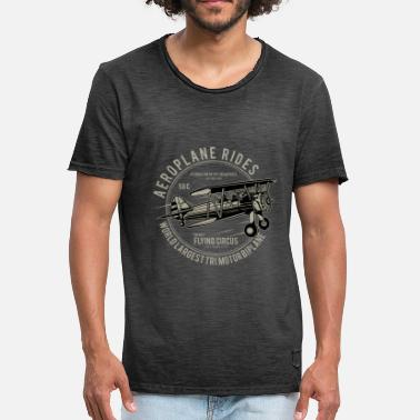 Avion Citation Avion biplan | Tours d'avion - T-shirt vintage Homme